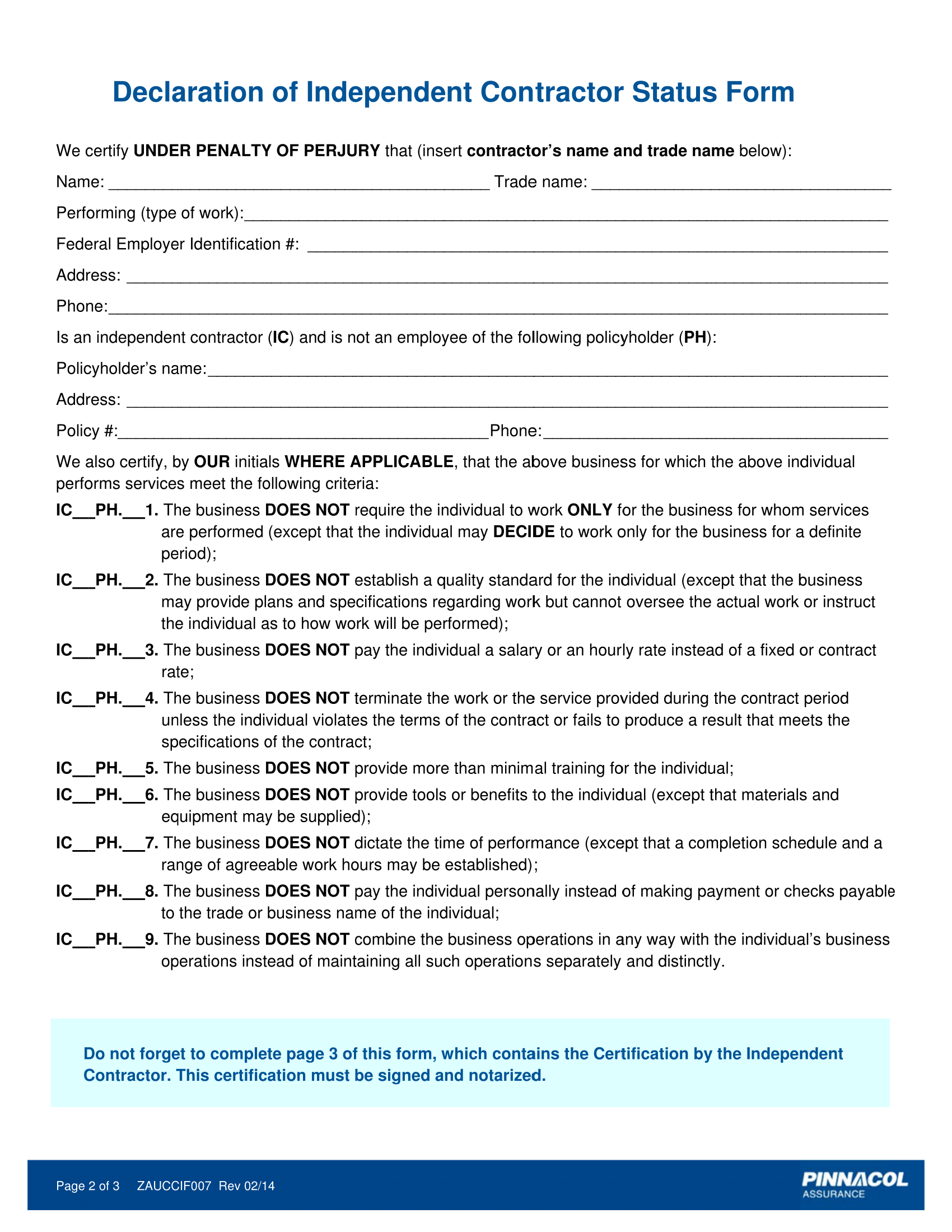Independent Contractor Employment Form Timiznceptzmusic